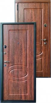Дверь металлическая MD-49 Дуб коньячный