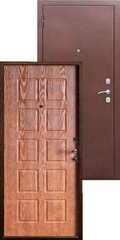 Дверь металлическая MD-06 золотой дуб