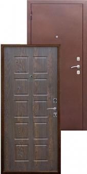 Дверь металлическая MD-06 шоколадный дуб