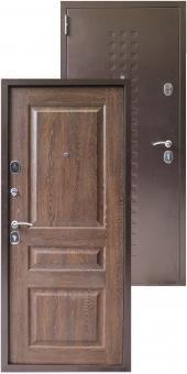 Дверь металлическая MD-46 Дуб коньячный