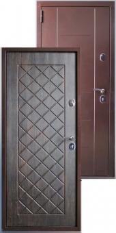 Дверь металлическая MD-44 тиковое дерево